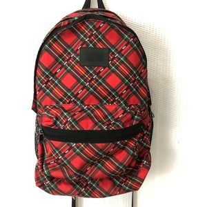 VS PINK Red Plaid Campus Backpack